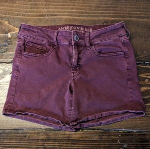 American Eagle | Purple Denim Shorts